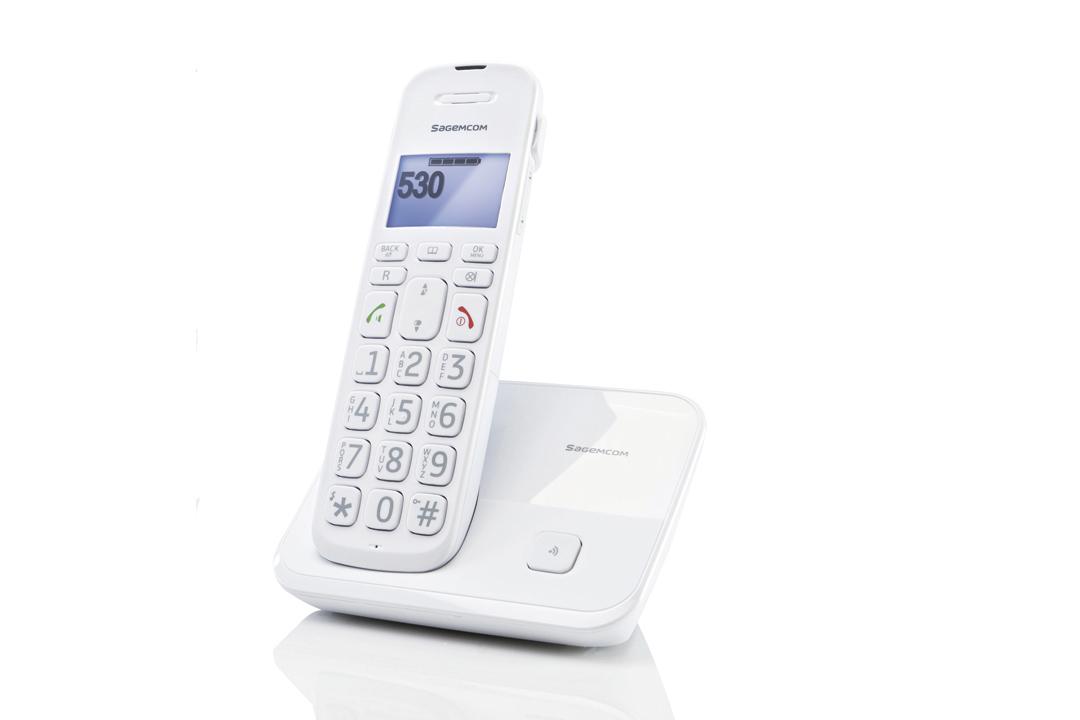 t l phone d530 grosses touches cran grand confort sagemcom. Black Bedroom Furniture Sets. Home Design Ideas