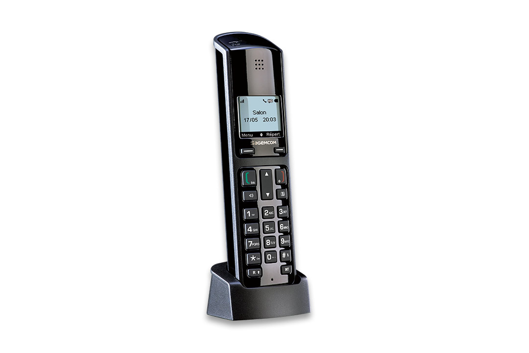 [Translate to DE:] D49HD cordless phone hd voice sagemcom